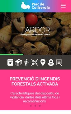 Diseño web responsivo de la página web del Parc Natural Collserola