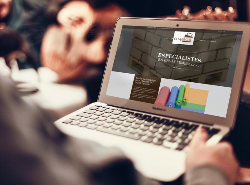 Diseño web de Envatecnic empresa de fabricación de productos para el envase y el embalaje