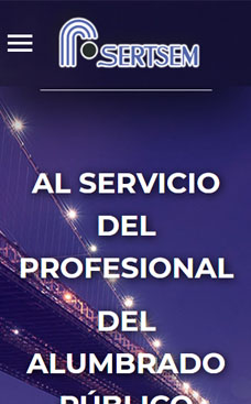 Diseño web para Sertsem, empresa al servicio del profesional del alumbrado público
