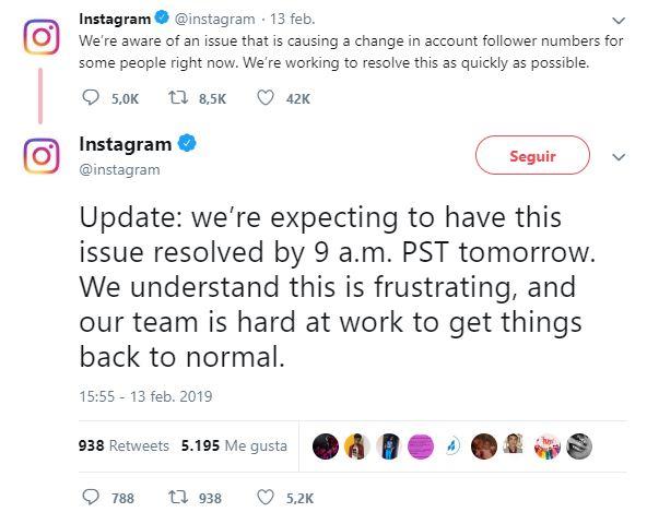 Fallo en Instagram